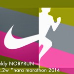 [n❁h]【週刊ノリラン 12月2W/奈良マラソンへの道*12】今週で最終回!不調のまま迎えた奈良マラソンの結果や如何に⁈